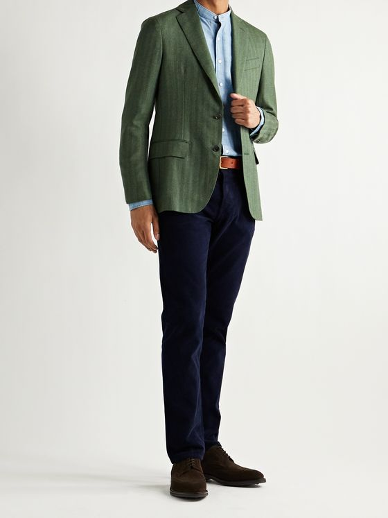 Sid Mashburn Kincaid No. 2 Slim-Fit Herringbone Wool Blazer