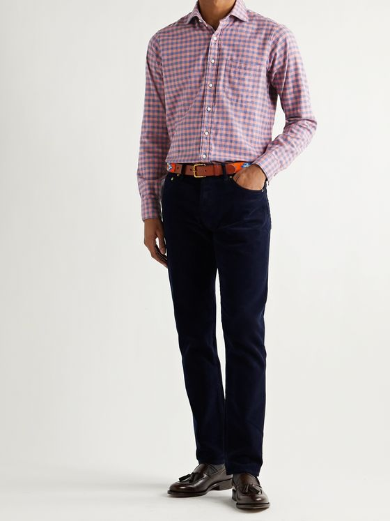 Sid Mashburn Gingham Cotton-Flannel Shirt