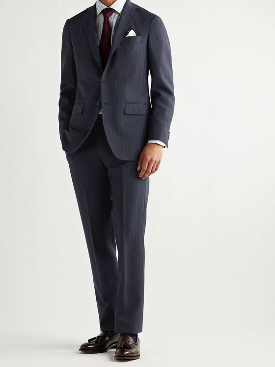 SID MASHBURN Virgil No. 3 Pinstriped Wool Suit