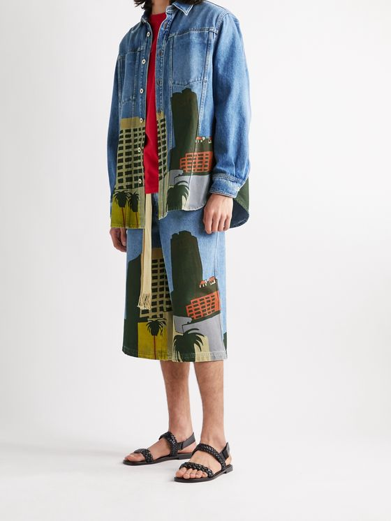 LOEWE + Ken Price LA Series Printed Denim Jacket
