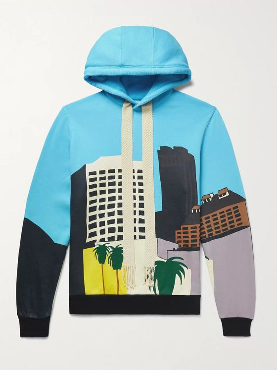 LOEWE + Ken Price L.A. Series Slim-Fit Printed Fleece-Back Cotton-Jersey Hoodie