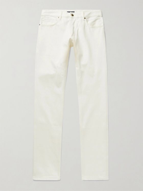 THOM SWEENEY Slim-Fit Selvedge Denim Jeans