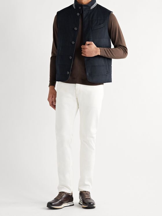THOM SWEENEY Quilted Wool and Cashmere-Blend Gilet