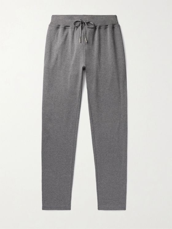 KITON Tapered Mélange Cotton Sweatpants