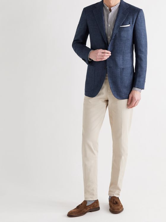 KITON Slim-Fit Cashmere, Silk and Linen-Blend Blazer