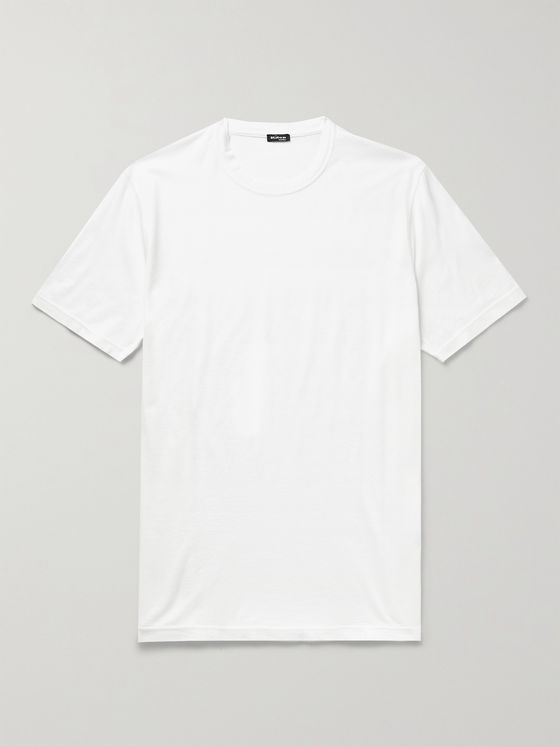 KITON Cotton and Cashmere-Blend Jersey T-Shirt