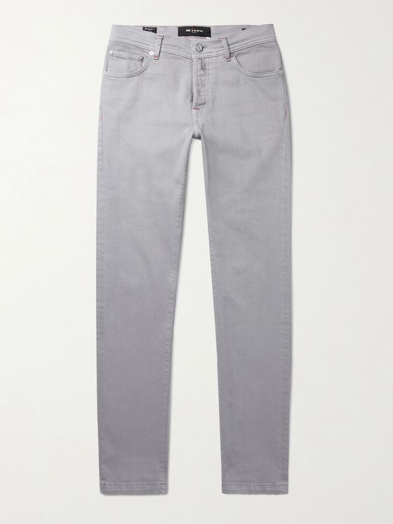 KITON Slim-Fit Stretch-Denim Jeans