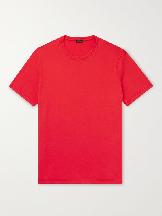 KITON Cotton and Cashmere-Blend T-Shirt