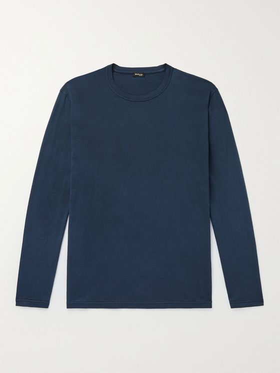 KITON Cotton and Wool-Blend T-Shirt