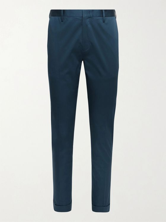 PAUL SMITH Slim-Fit Stretch Organic Cotton Suit Trousers