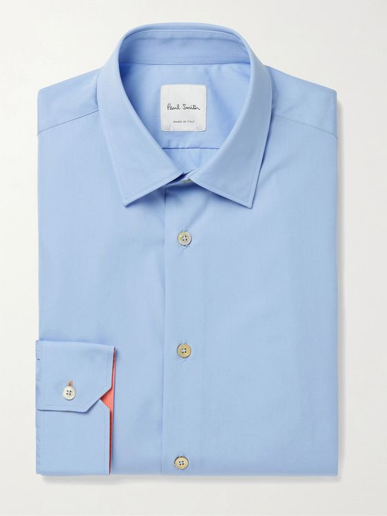 PAUL SMITH Cotton-Poplin Shirt