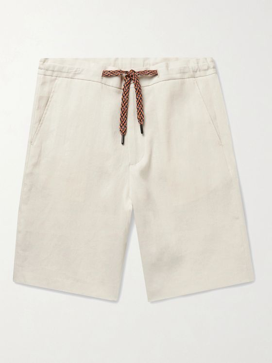 PAUL SMITH Linen Drawstring Shorts