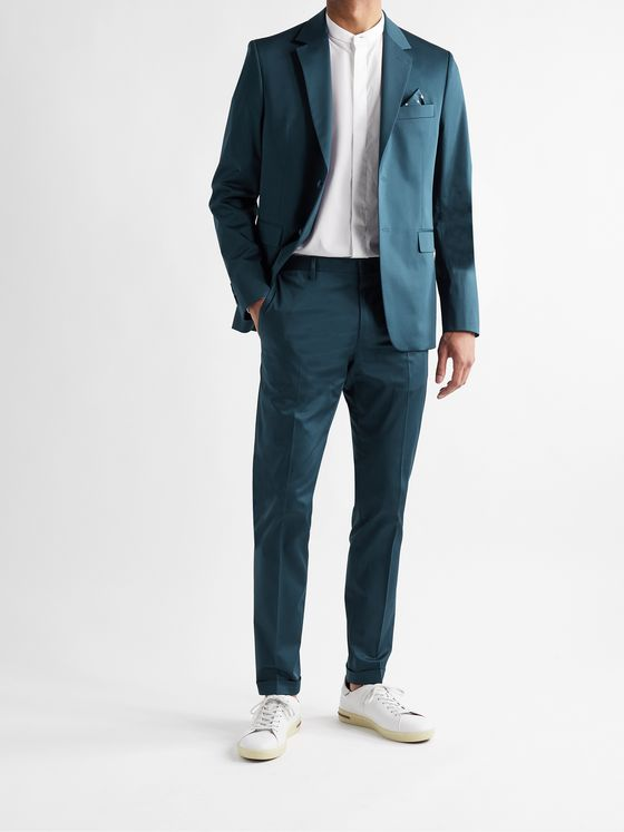 PAUL SMITH Cotton-Blend Sateen Suit Jacket