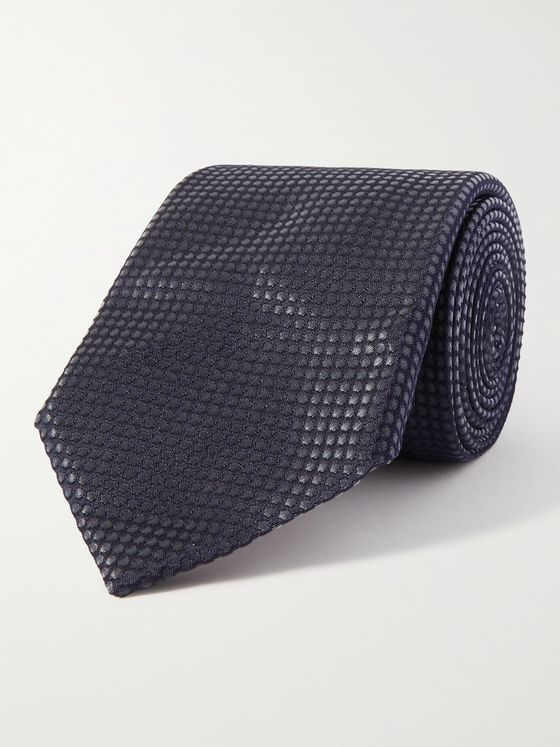 PAUL SMITH 8cm Pin-Dot Textured Silk-Blend Tie