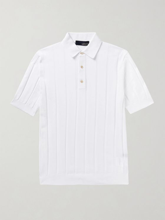 Lardini Ribbed Cotton Polo Shirt