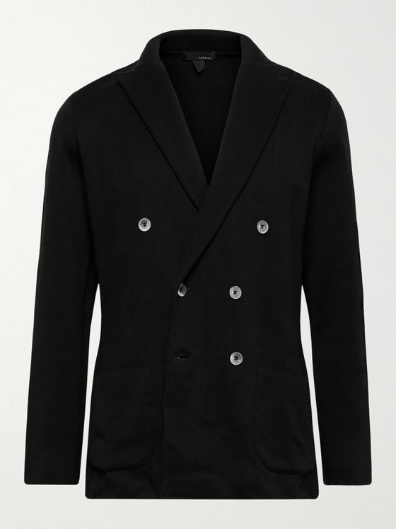 LARDINI Double-Breasted Cotton Blazer