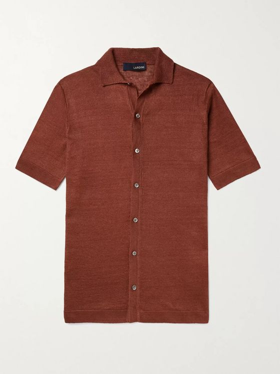 LARDINI Slim-Fit Linen Shirt