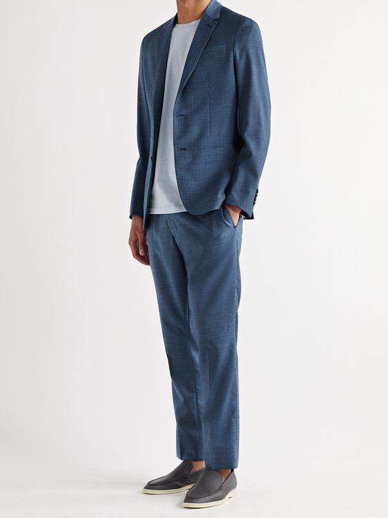 PAUL SMITH Kensington Slim-Fit Micro-Checked Wool Suit Jacket
