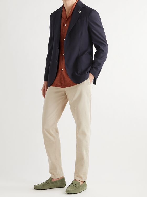 LARDINI Unstructured Wool-Blend Blazer