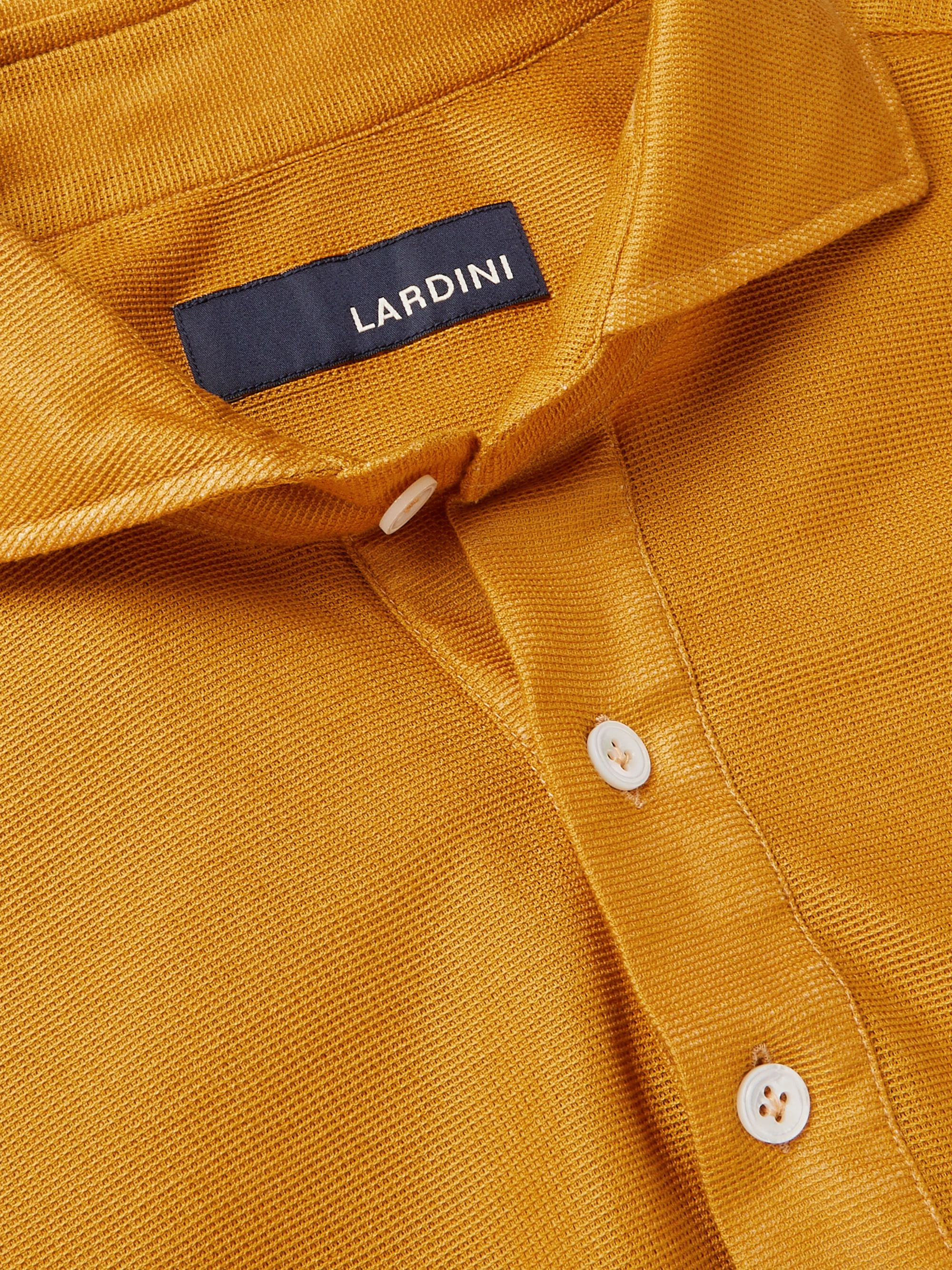 LARDINI Elandry Cotton Half-Placket Shirt