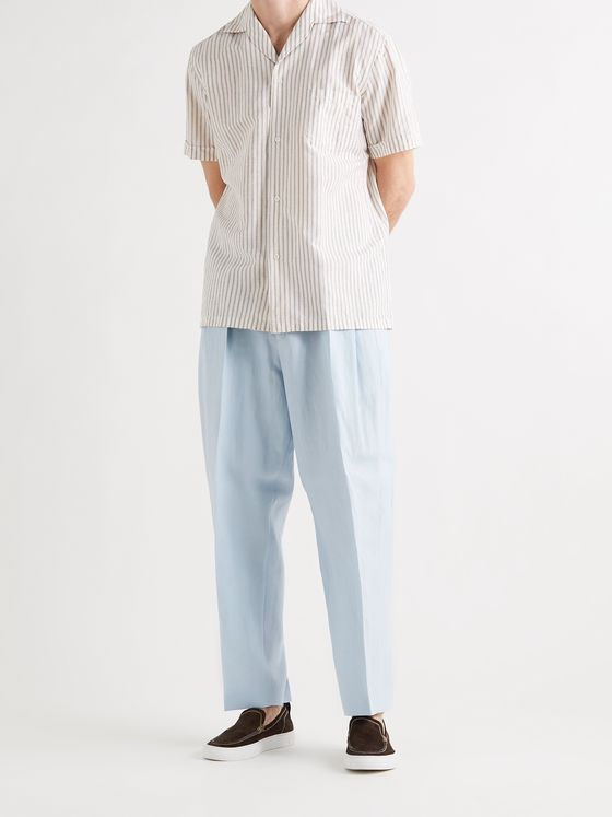 PAUL SMITH Tapered Linen Trousers