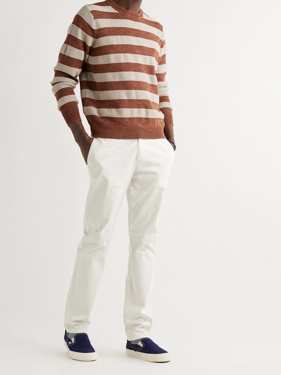 Outerknown Water-Less Striped Organic Cotton Sweater