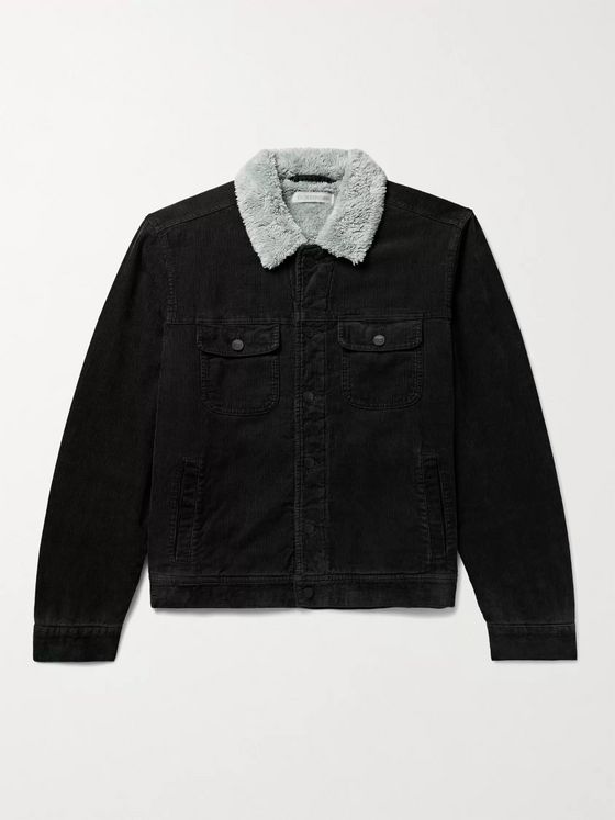OUTERKNOWN Paz Sherpa-Lined Hemp and Organic Cotton-Blend Corduroy Trucker Jacket