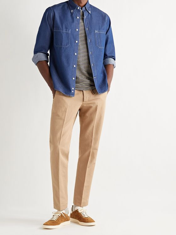 MAN 1924 Tomi Slim-Fit Linen and Cotton-Blend Drawstring Trousers