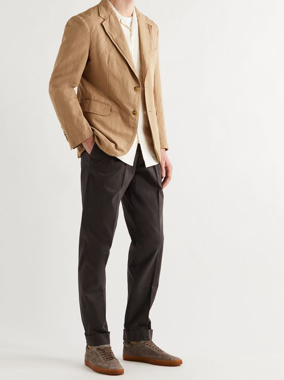 MAN 1924 Kennedy Slim-Fit Unstructured Linen and Cotton-Blend Blazer
