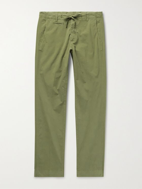 MAN 1924 Tomi Slim-Fit Stretch-Cotton Poplin Drawstring Trousers