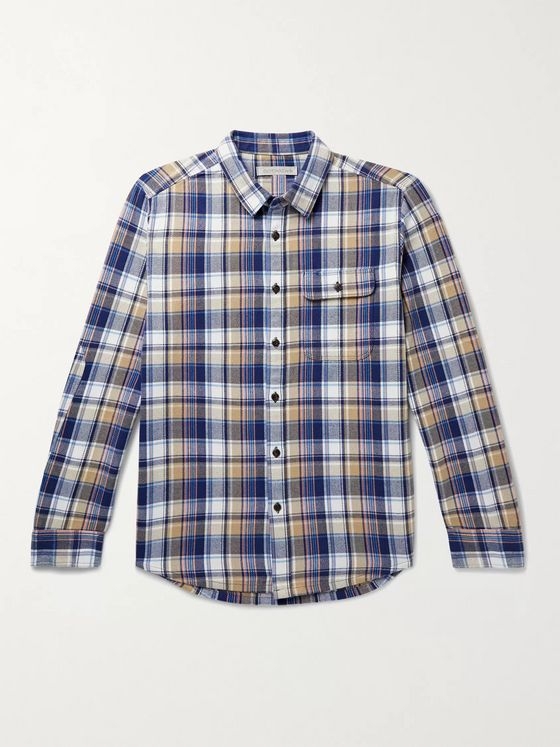 Outerknown Rambler Checked Organic Cotton-Flannel Shirt