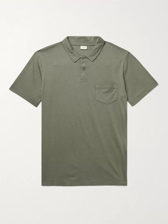 Onia Eric Cotton and Modal-Blend Jersey Polo Shirt