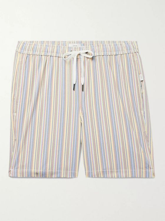 ONIA Charles Striped Swim Shorts