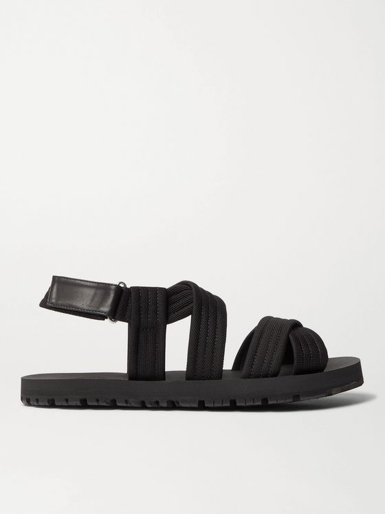 DRIES VAN NOTEN Leather-Trimmed Webbing Sandals