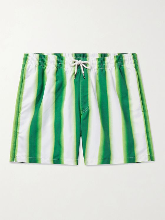 DRIES VAN NOTEN Mid-Length Striped Swim Shorts