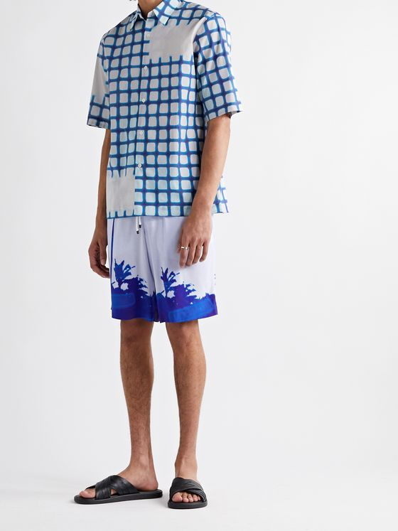 DRIES VAN NOTEN + Len Lye Printed Cotton-Poplin Shirt