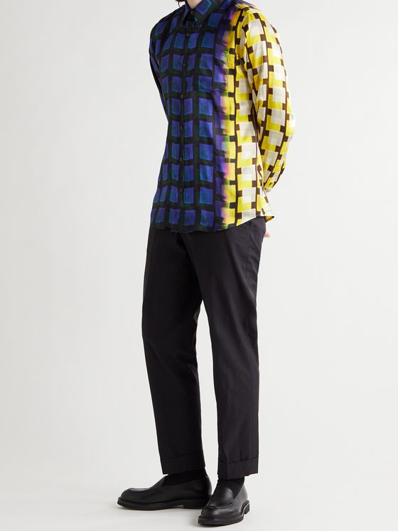 DRIES VAN NOTEN + Len Lye Printed Satin-Twill Shirt