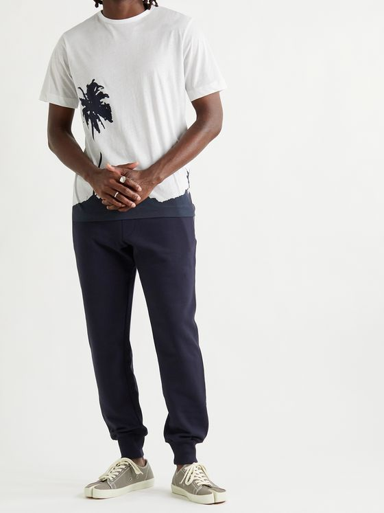 DRIES VAN NOTEN Tapered Cotton-Jersey Sweatpants