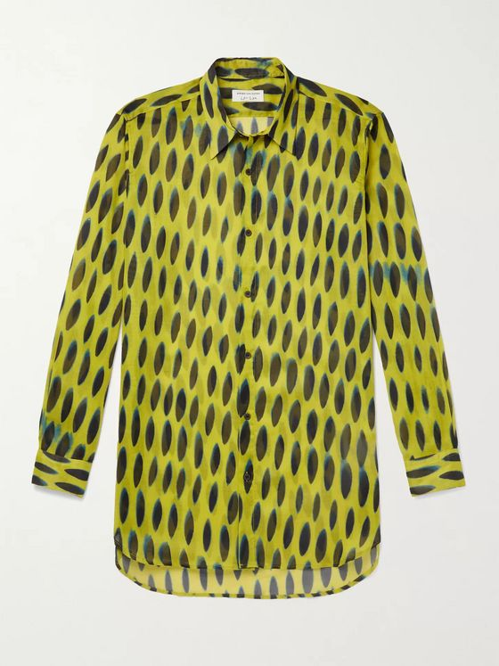 DRIES VAN NOTEN Printed Cotton-Voile Shirt