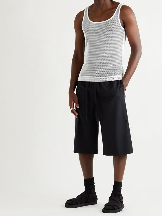 DRIES VAN NOTEN Cotton-Mesh Tank Top