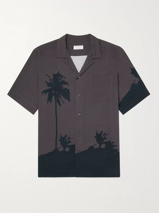 DRIES VAN NOTEN + Len Lye Camp-Collar Printed Woven Shirt