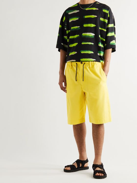 DRIES VAN NOTEN Cotton-Blend Gabardine Drawstring Shorts