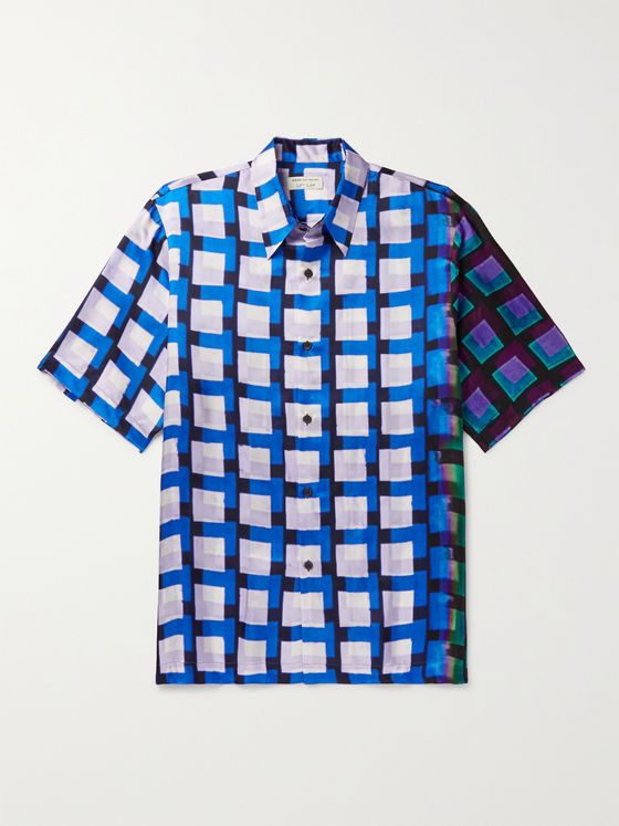 DRIES VAN NOTEN + Len Lye Checked Twill Shirt
