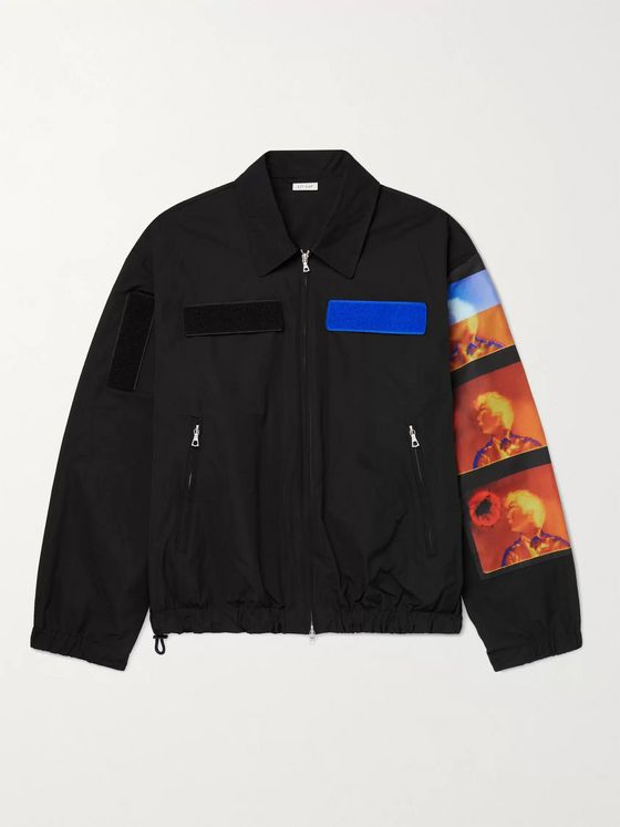 DRIES VAN NOTEN + Len Lye Appliquéd Printed Shell Jacket