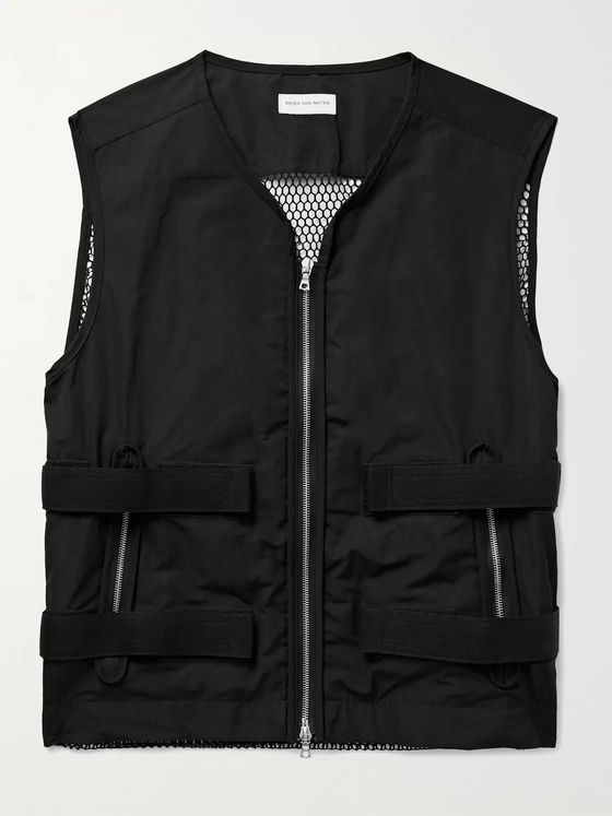 DRIES VAN NOTEN Mesh-Panelled Shell Gilet