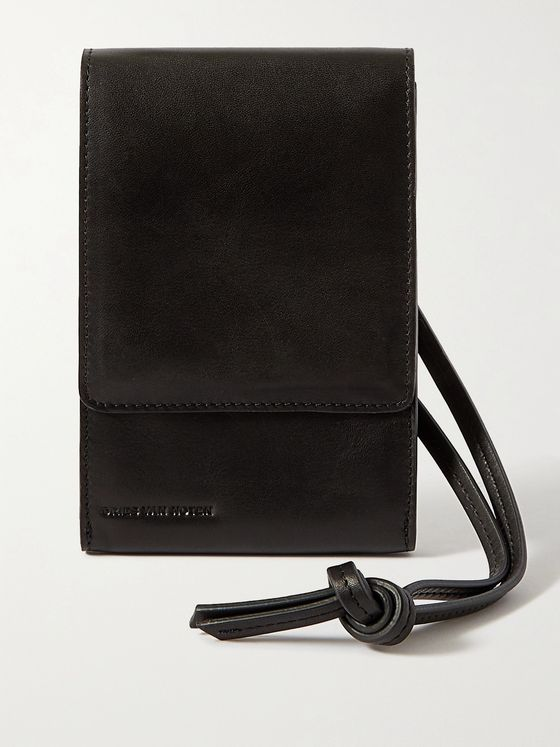 DRIES VAN NOTEN Leather Phone Pouch