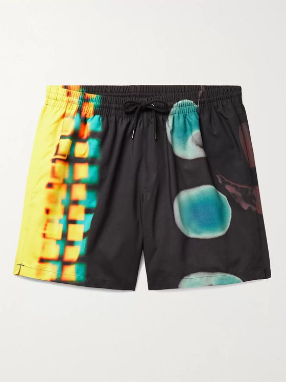 DRIES VAN NOTEN + Len Lye Mid-Length Printed Swim Shorts