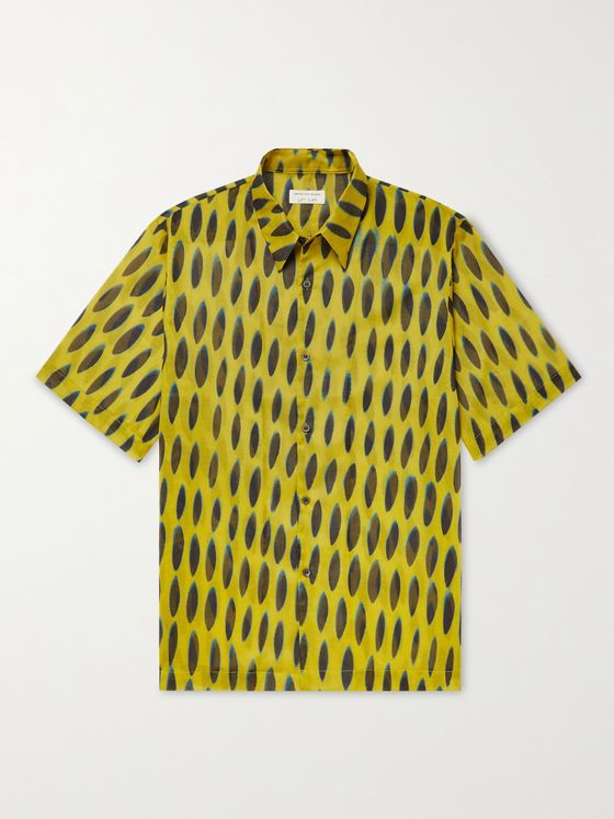 DRIES VAN NOTEN + Len Lye Printed Cotton Shirt