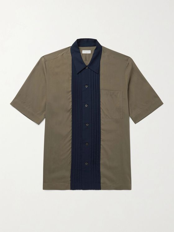 DRIES VAN NOTEN Colour-Block Woven Shirt