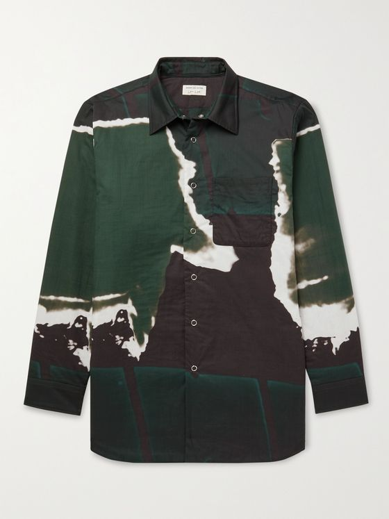 DRIES VAN NOTEN Printed Cotton-Poplin Shirt
